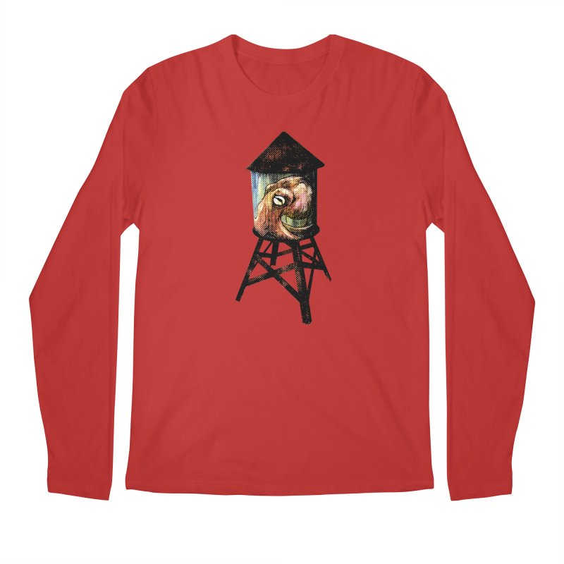 Octopus Water Tower Men's Regular Longsleeve T-Shirt by Zerostreet's Artist Shop