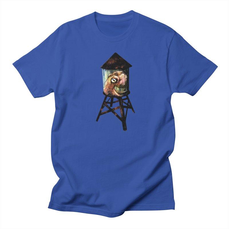 Octopus Water Tower Men's Regular T-Shirt by Zero Street's Artist Shop