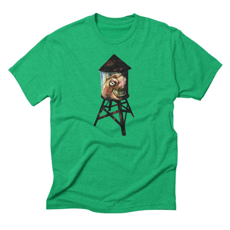 Octopus Water Tower Men's Triblend T-Shirt by Zero Street's Artist Shop
