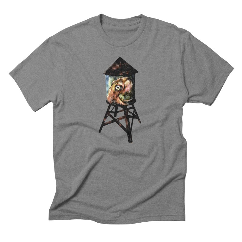 Octopus Water Tower Men's Triblend T-Shirt by Zerostreet's Artist Shop