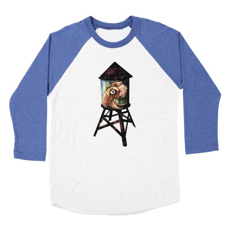 Octopus Water Tower Women's Baseball Triblend Longsleeve T-Shirt by Zero Street's Artist Shop