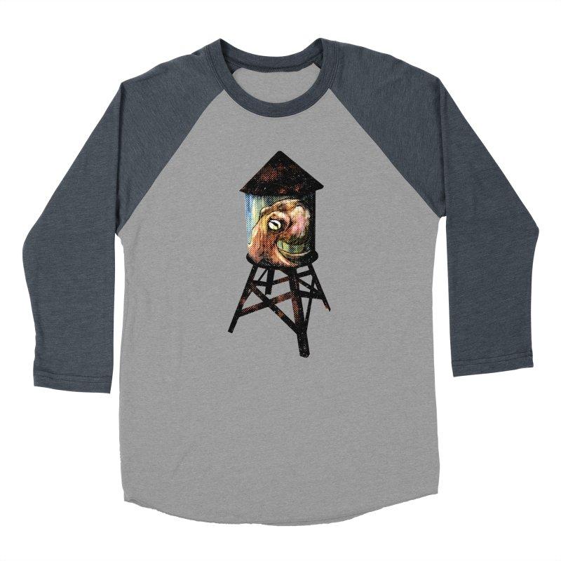 Octopus Water Tower Men's Baseball Triblend Longsleeve T-Shirt by Zero Street's Artist Shop