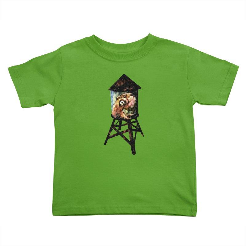 Octopus Water Tower Kids Toddler T-Shirt by Zerostreet's Artist Shop
