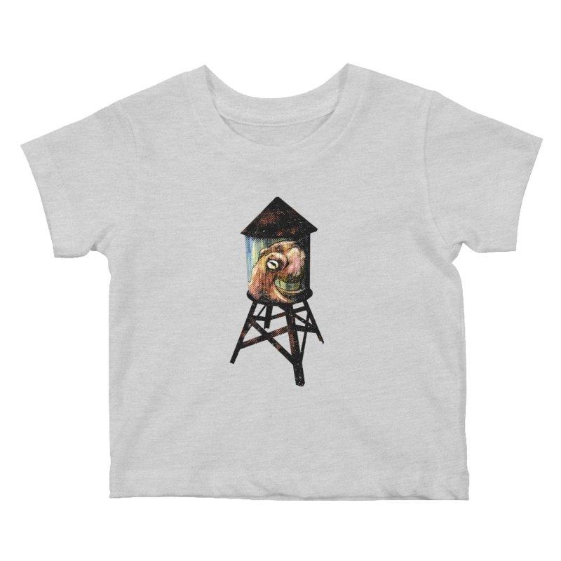 Octopus Water Tower Kids Baby T-Shirt by Zerostreet's Artist Shop