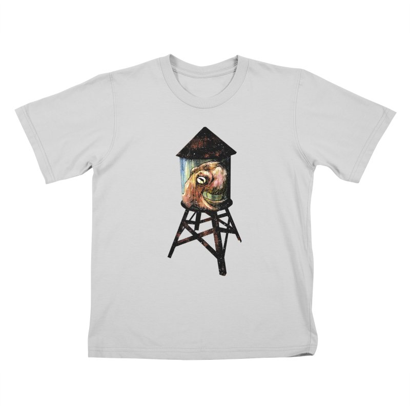 Octopus Water Tower Kids T-Shirt by Zerostreet's Artist Shop