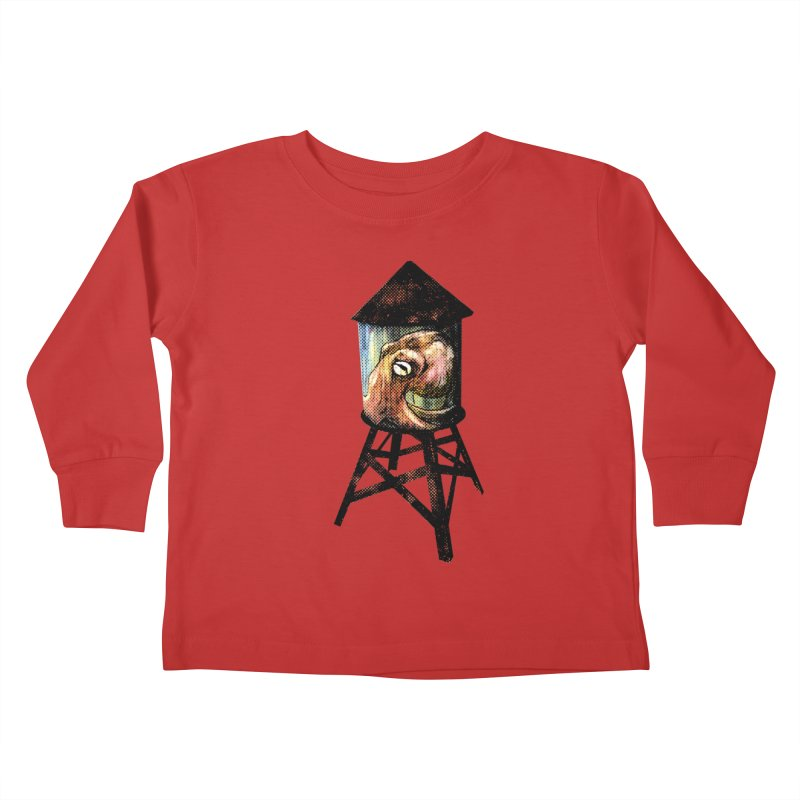 Octopus Water Tower Kids Toddler Longsleeve T-Shirt by Zerostreet's Artist Shop