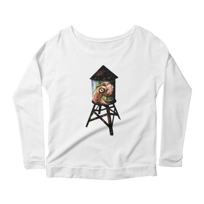 Octopus Water Tower Women's Scoop Neck Longsleeve T-Shirt by Zero Street's Artist Shop