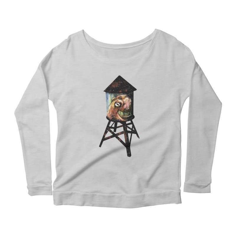 Octopus Water Tower Women's Scoop Neck Longsleeve T-Shirt by Zerostreet's Artist Shop