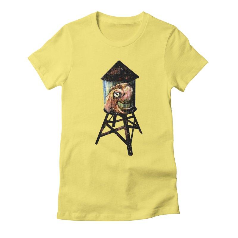 Octopus Water Tower Women's Fitted T-Shirt by Zerostreet's Artist Shop