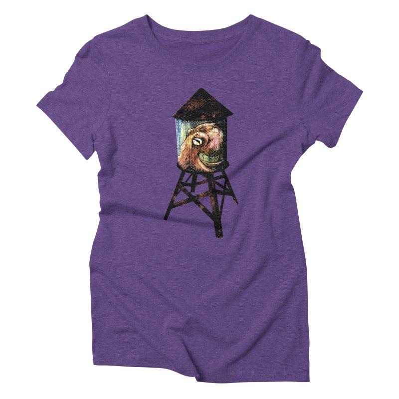Octopus Water Tower Women's Triblend T-Shirt by Zerostreet's Artist Shop