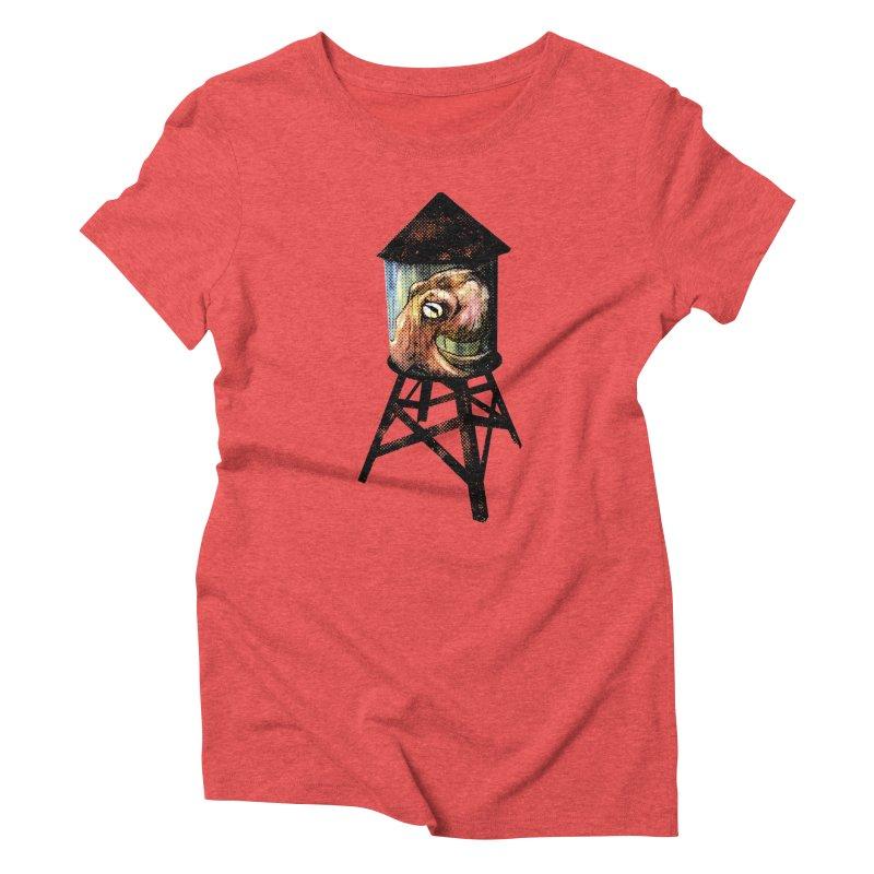 Octopus Water Tower Women's Triblend T-Shirt by Zero Street's Artist Shop