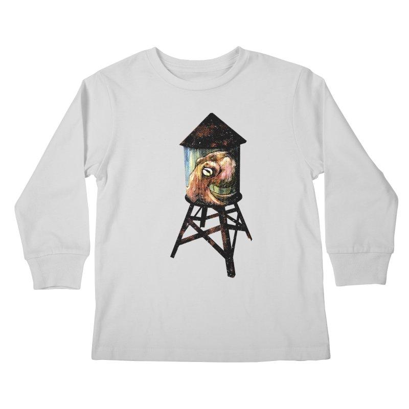 Octopus Water Tower Kids Longsleeve T-Shirt by Zerostreet's Artist Shop