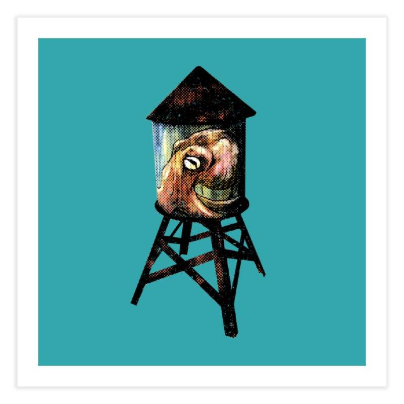 Octopus Water Tower Home Fine Art Print by Zerostreet's Artist Shop