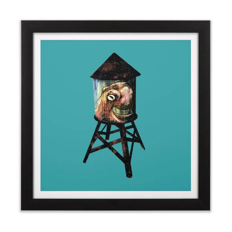 Octopus Water Tower Home Framed Fine Art Print by Zerostreet's Artist Shop