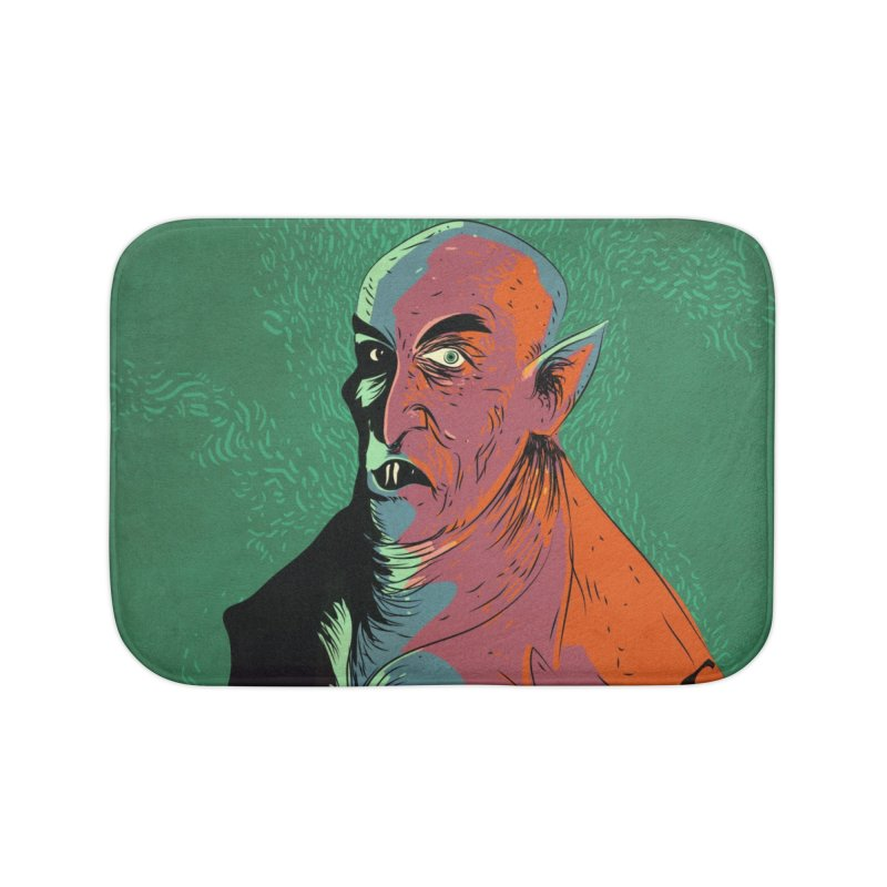 Nosferatu At Rest Home Bath Mat by Zerostreet's Artist Shop