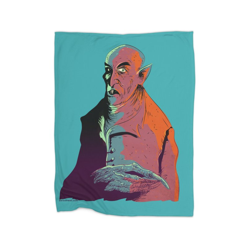 Nosferatu At Rest Home Fleece Blanket Blanket by Zerostreet's Artist Shop