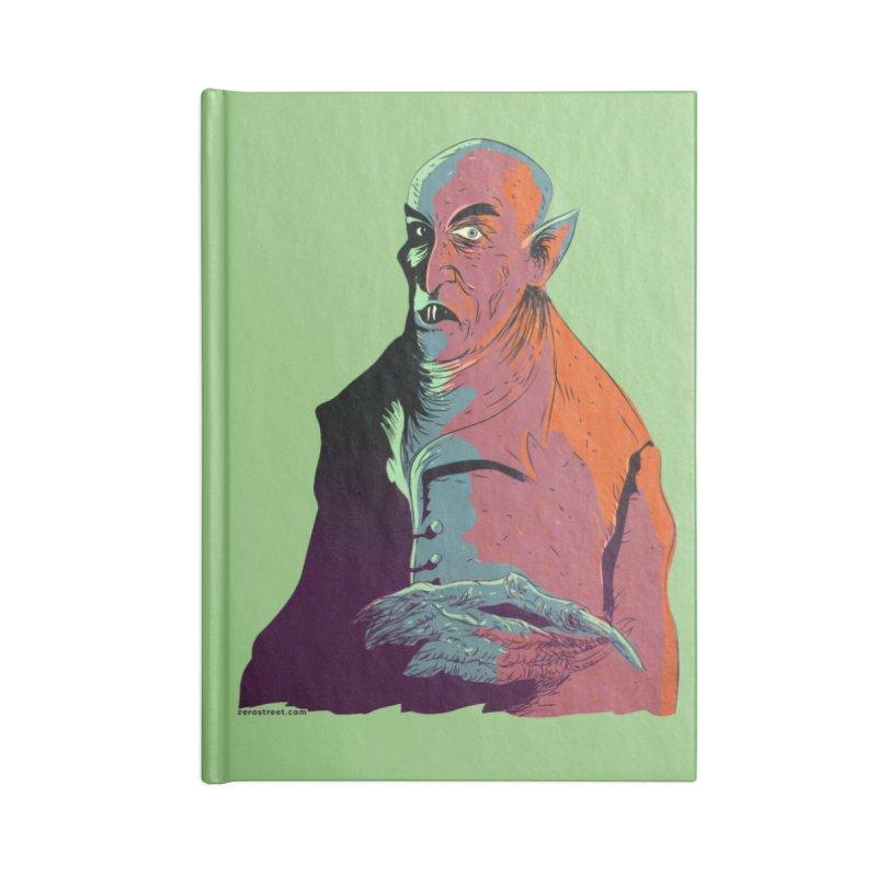 Nosferatu At Rest Accessories Lined Journal Notebook by Zerostreet's Artist Shop