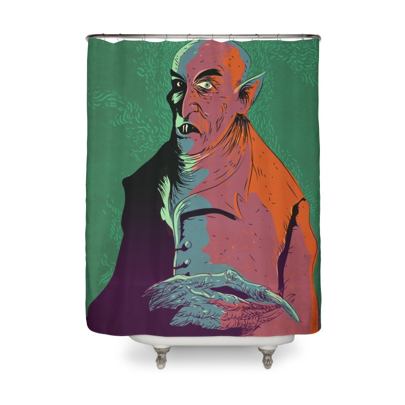 Nosferatu At Rest Home Shower Curtain by Zerostreet's Artist Shop