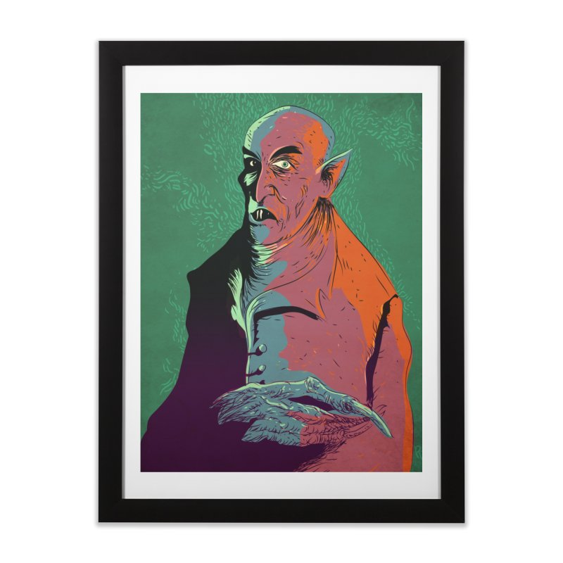 Nosferatu At Rest Home Framed Fine Art Print by Zerostreet's Artist Shop