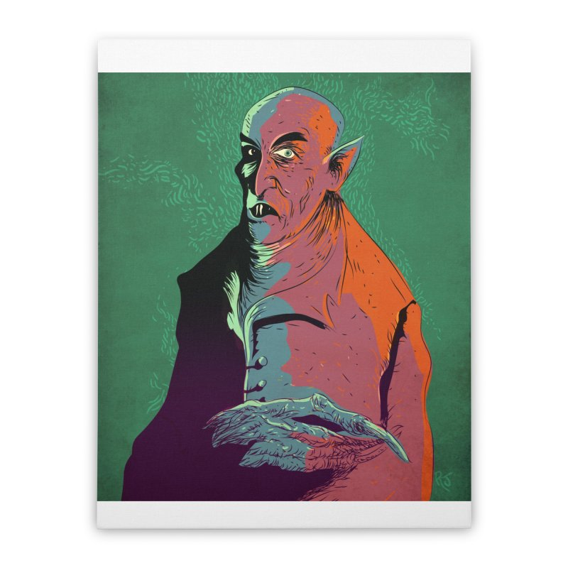 Nosferatu At Rest Home Stretched Canvas by Zerostreet's Artist Shop