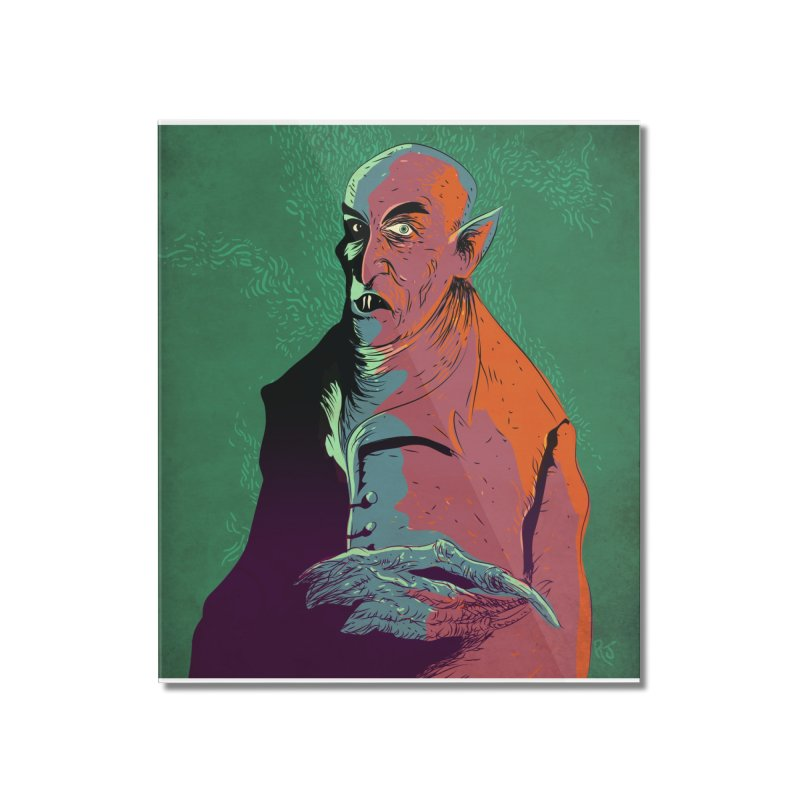 Nosferatu At Rest Home Mounted Acrylic Print by Zerostreet's Artist Shop