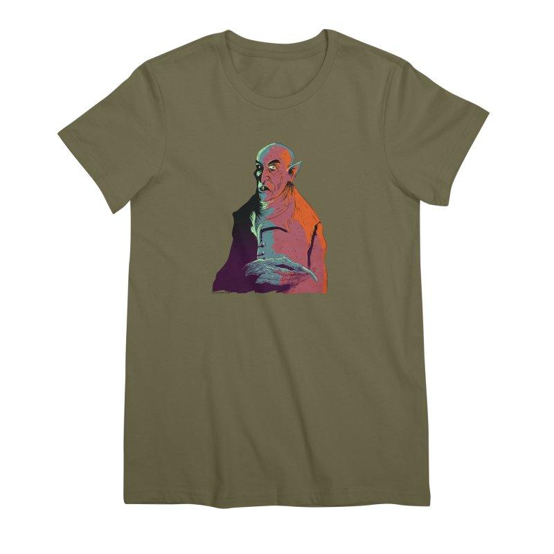 Nosferatu At Rest Women's Premium T-Shirt by Zerostreet's Artist Shop