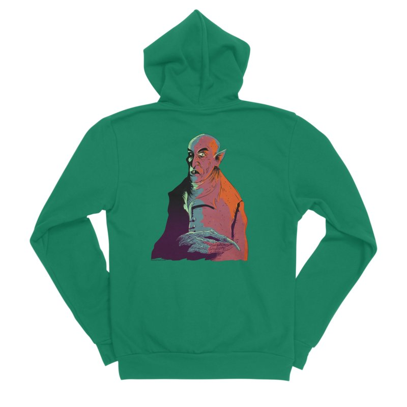 Nosferatu At Rest Men's Sponge Fleece Zip-Up Hoody by Zero Street's Artist Shop