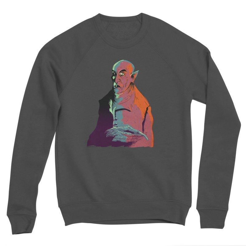 Nosferatu At Rest Women's Sponge Fleece Sweatshirt by Zerostreet's Artist Shop