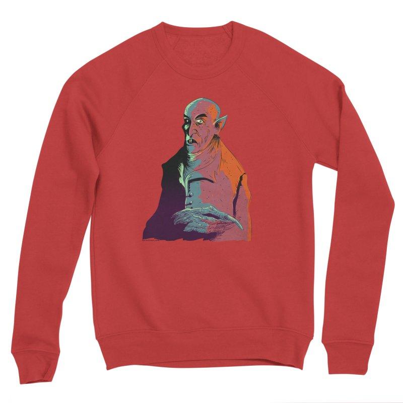 Nosferatu At Rest Men's Sponge Fleece Sweatshirt by Zero Street's Artist Shop