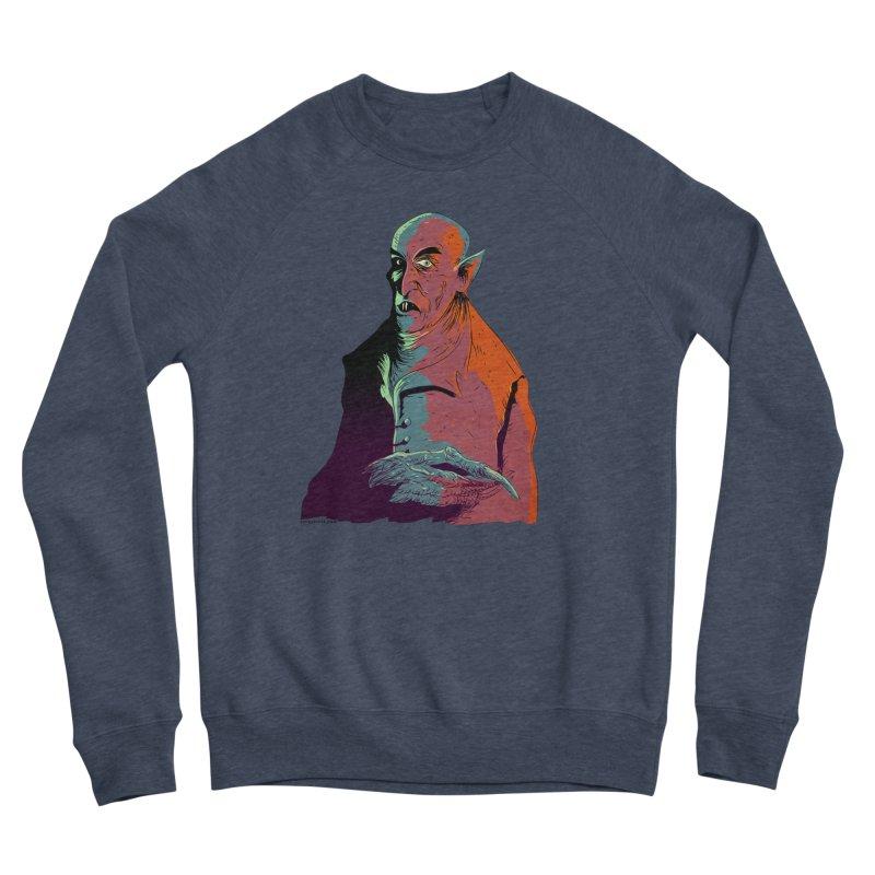 Nosferatu At Rest Men's Sponge Fleece Sweatshirt by Zerostreet's Artist Shop