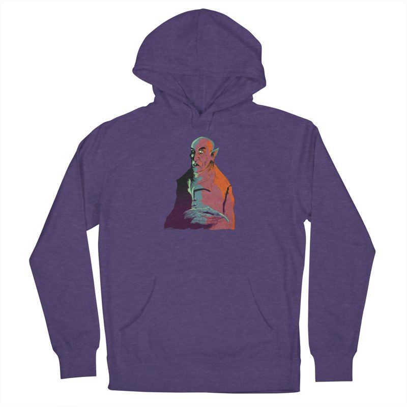 Nosferatu At Rest Women's French Terry Pullover Hoody by Zerostreet's Artist Shop
