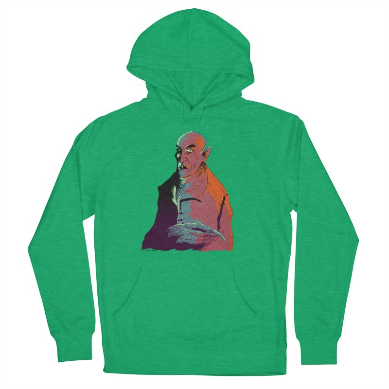 Nosferatu At Rest Men's French Terry Pullover Hoody by Zerostreet's Artist Shop