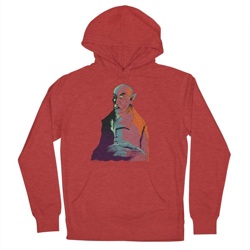Nosferatu At Rest Men's French Terry Pullover Hoody by Zero Street's Artist Shop