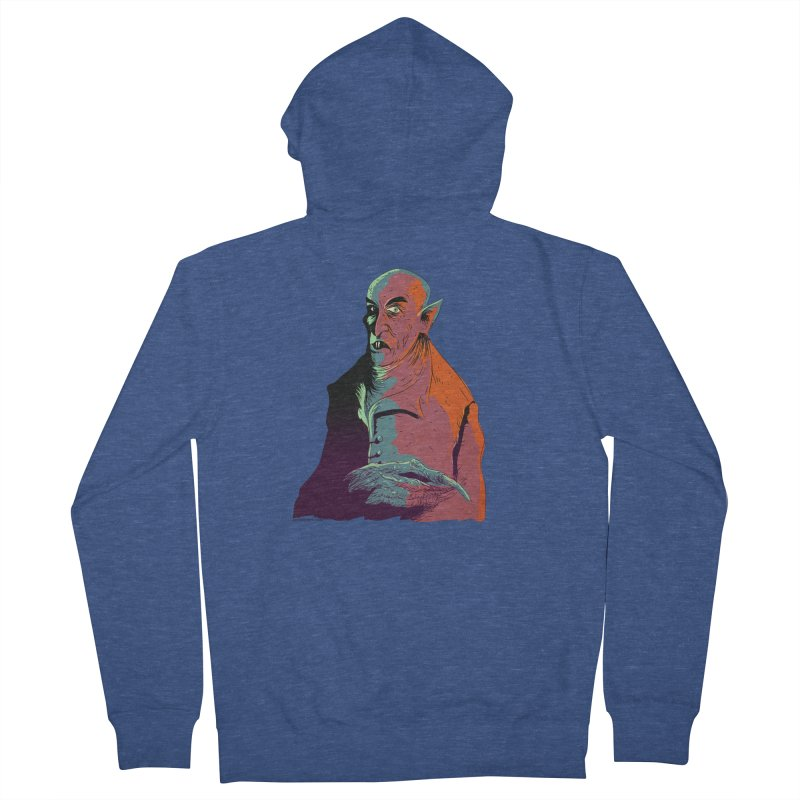 Nosferatu At Rest Women's French Terry Zip-Up Hoody by Zero Street's Artist Shop