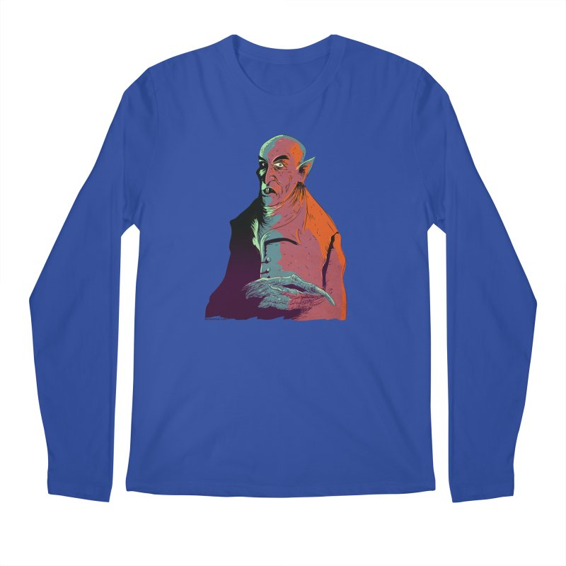 Nosferatu At Rest Men's Regular Longsleeve T-Shirt by Zero Street's Artist Shop