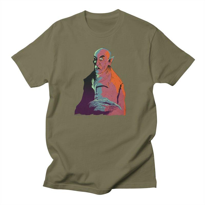Nosferatu At Rest Men's Regular T-Shirt by Zero Street's Artist Shop