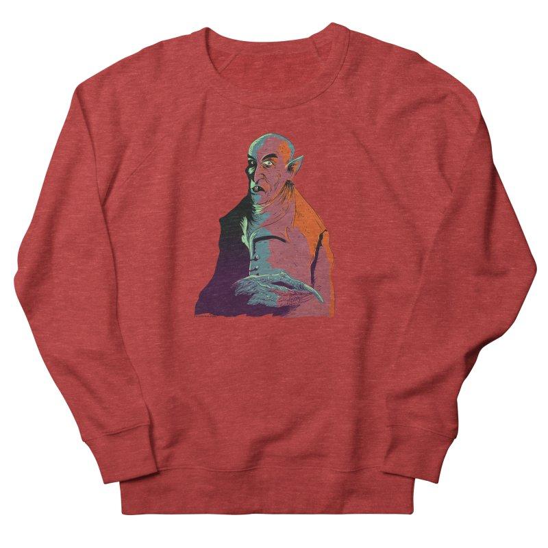 Nosferatu At Rest Men's French Terry Sweatshirt by Zero Street's Artist Shop