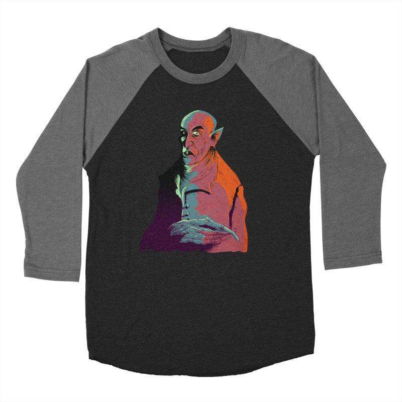Nosferatu At Rest Women's Baseball Triblend Longsleeve T-Shirt by Zero Street's Artist Shop