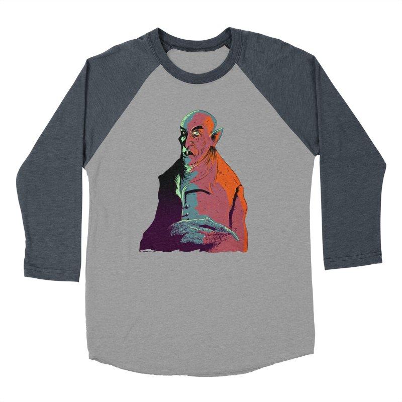 Nosferatu At Rest Men's Baseball Triblend Longsleeve T-Shirt by Zero Street's Artist Shop
