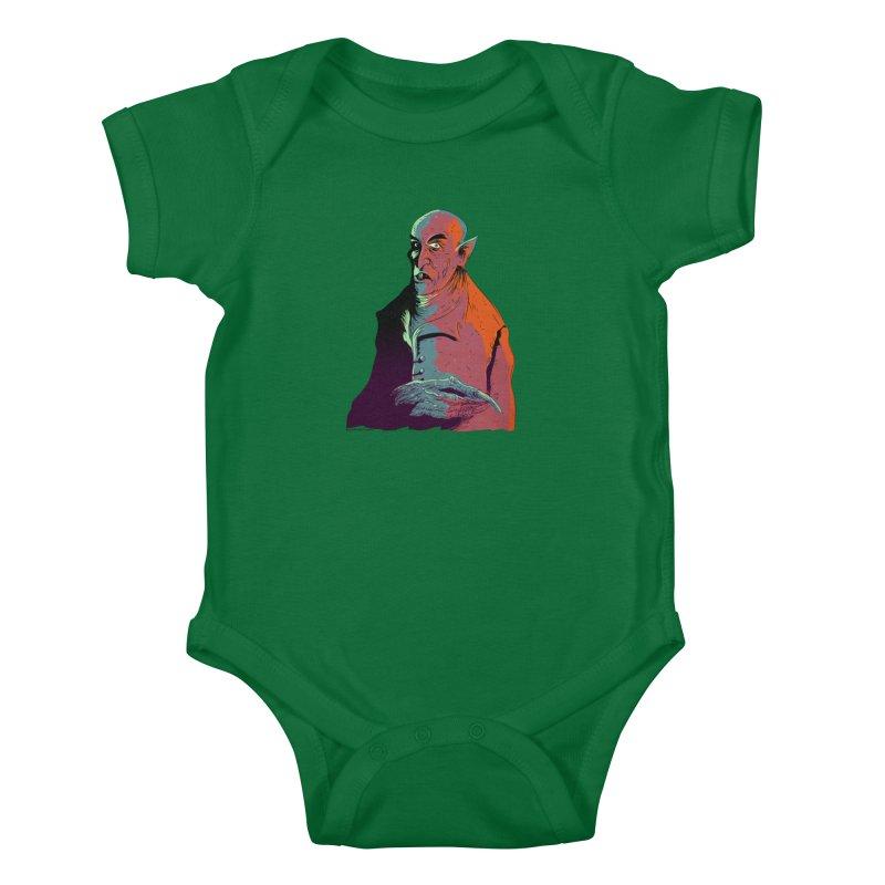 Nosferatu At Rest Kids Baby Bodysuit by Zerostreet's Artist Shop