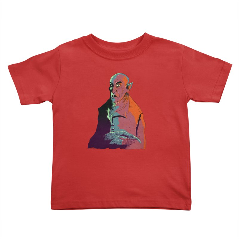 Nosferatu At Rest Kids Toddler T-Shirt by Zerostreet's Artist Shop