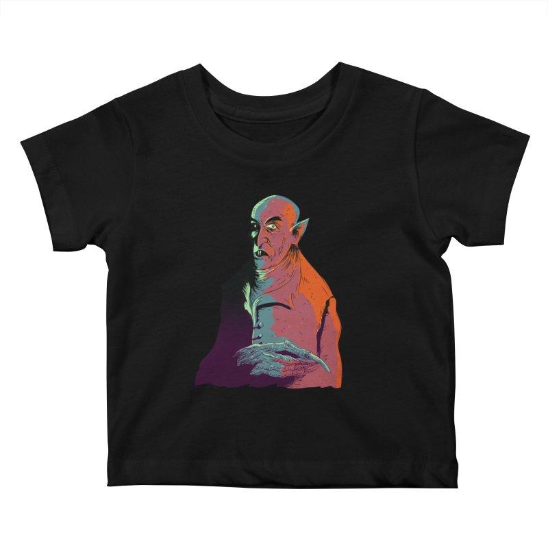 Nosferatu At Rest Kids Baby T-Shirt by Zero Street's Artist Shop