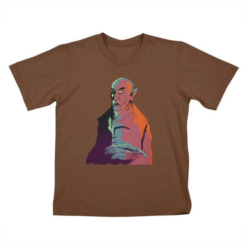 Nosferatu At Rest Kids T-Shirt by Zero Street's Artist Shop