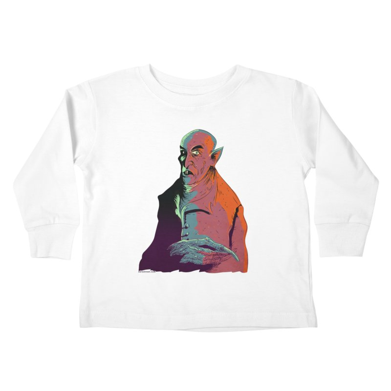 Nosferatu At Rest Kids Toddler Longsleeve T-Shirt by Zerostreet's Artist Shop
