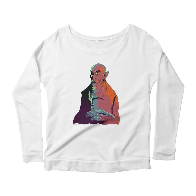 Nosferatu At Rest Women's Scoop Neck Longsleeve T-Shirt by Zerostreet's Artist Shop