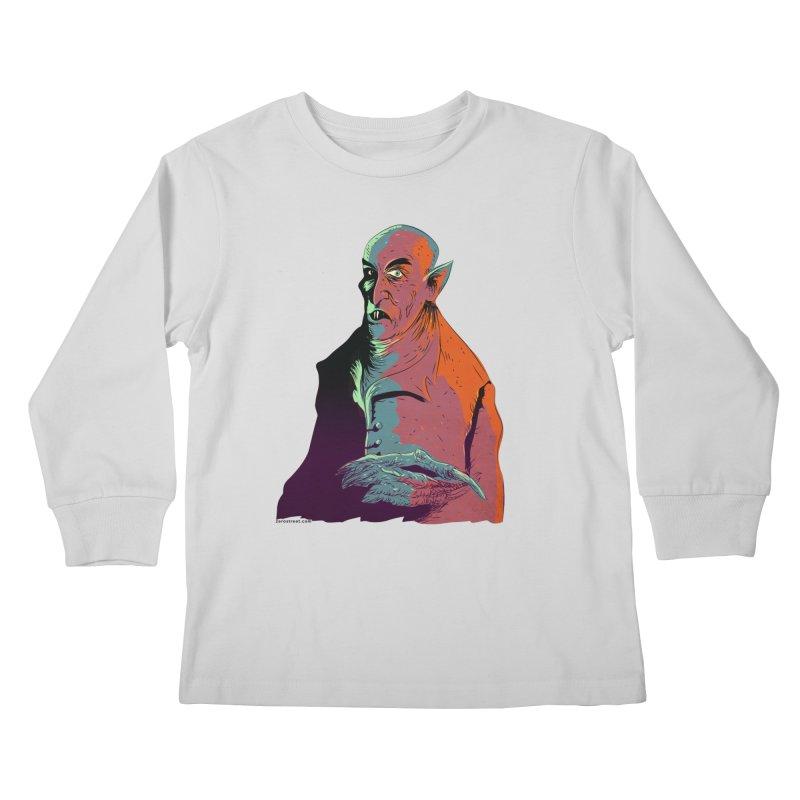 Nosferatu At Rest Kids Longsleeve T-Shirt by Zero Street's Artist Shop