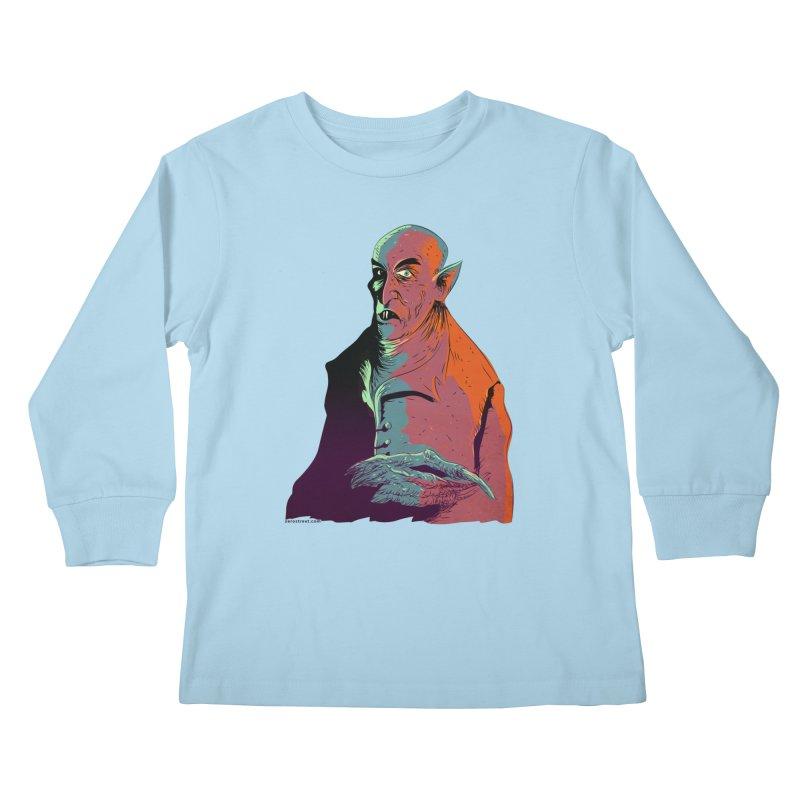 Nosferatu At Rest Kids Longsleeve T-Shirt by Zerostreet's Artist Shop