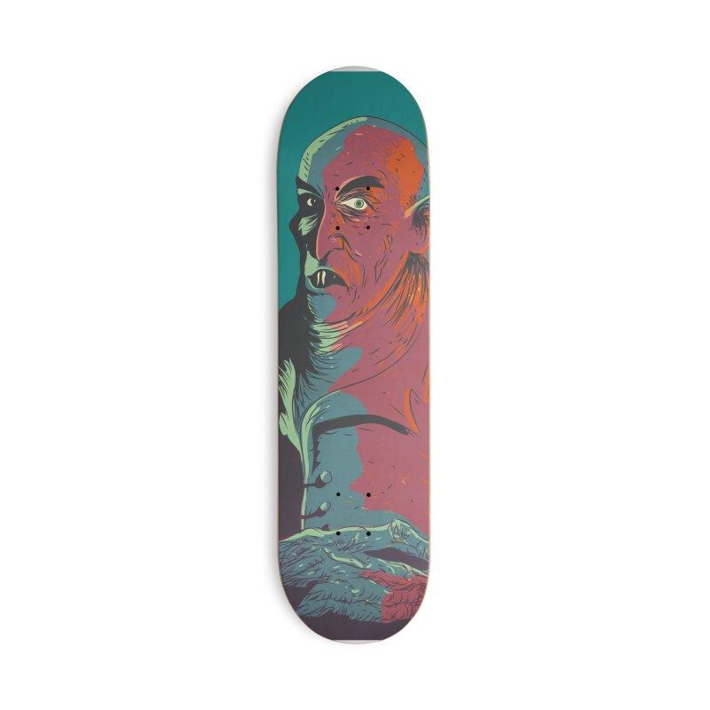 Nosferatu At Rest Accessories Deck Only Skateboard by Zerostreet's Artist Shop