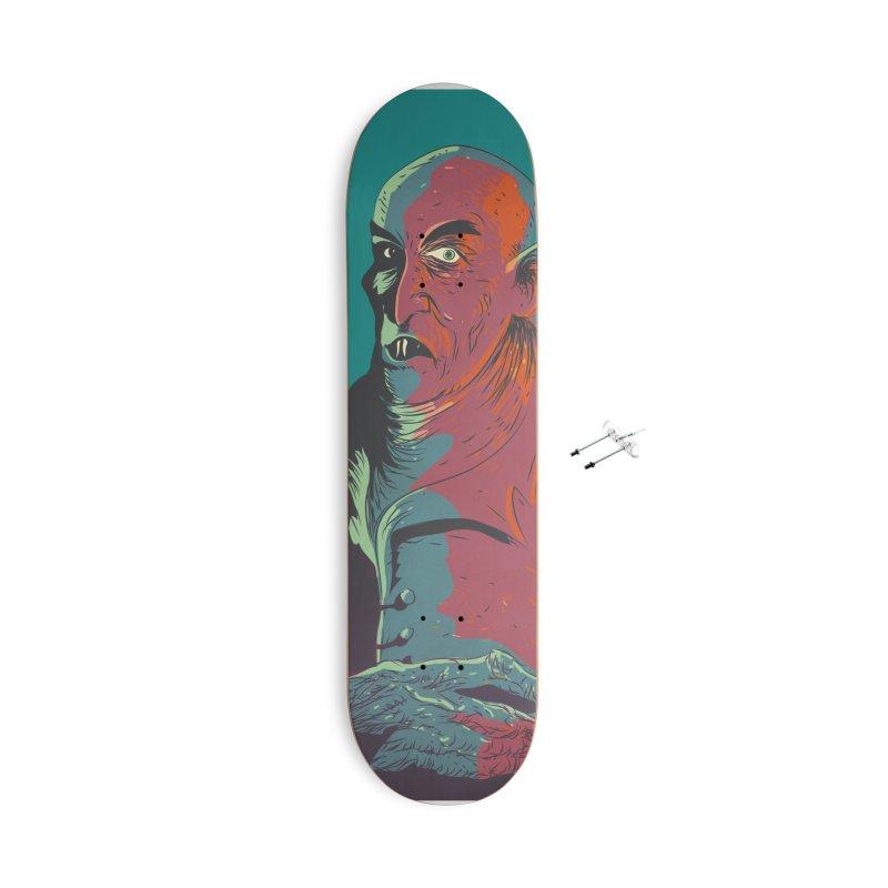Nosferatu At Rest Accessories With Hanging Hardware Skateboard by Zerostreet's Artist Shop