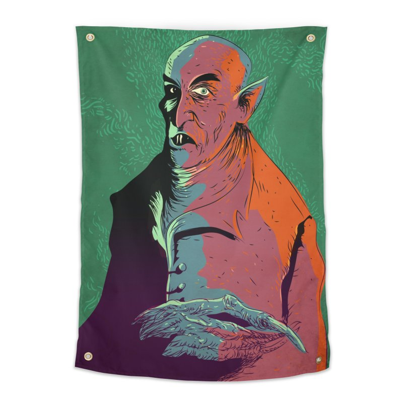 Nosferatu At Rest Home Tapestry by Zerostreet's Artist Shop